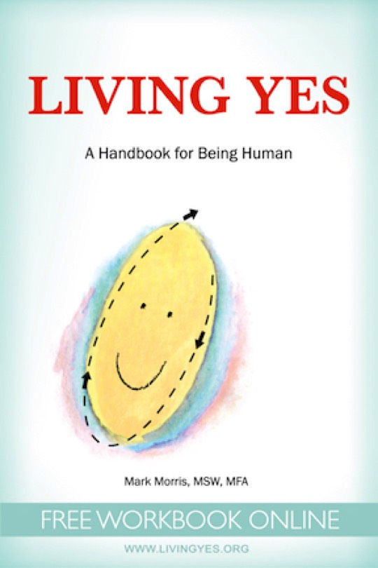 image book front cover Living Yes